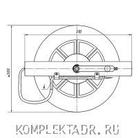 Схема барабана заземления БЗ-30.01