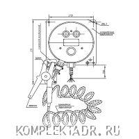 Схема устройства заземления автоцистерны УЗА-2МК05 (12В)