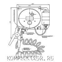 Схема устройства заземления автоцистерны УЗА-2МК06