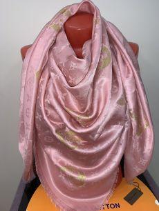 Большой платок   Louis Vuitton (розовый) с люрексом, арт. 016