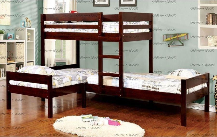 Кровать трехъярусная №20IR Массив