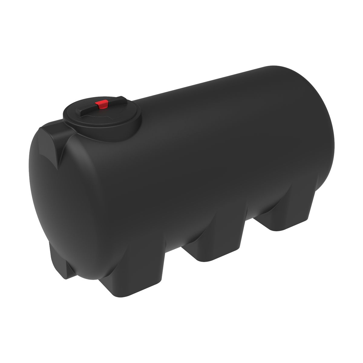 Емкость H 1000 литров черная пластиковая