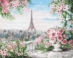 Картина по номерам «Романтичный вид из окна» 40x50 см