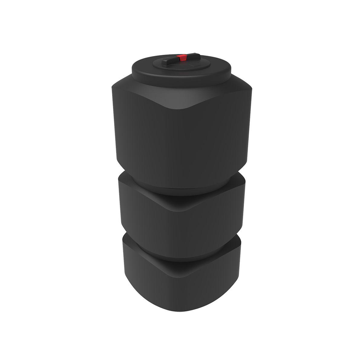 Бак для воды L 750 литров черный