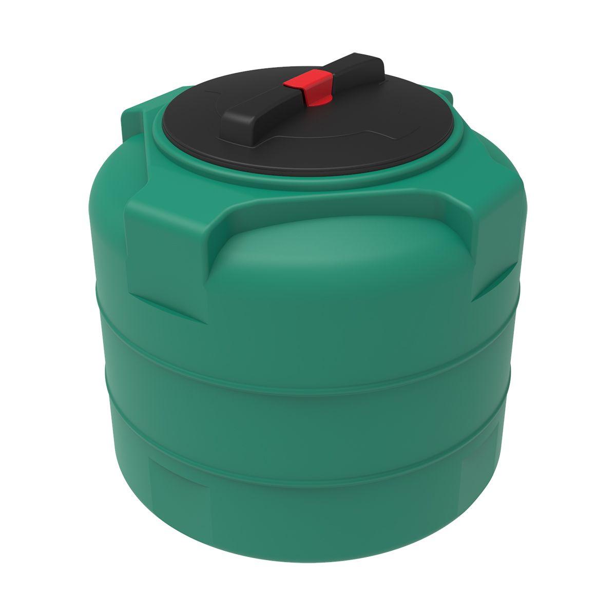 Бак для воды T 100 литров пластиковый зеленый