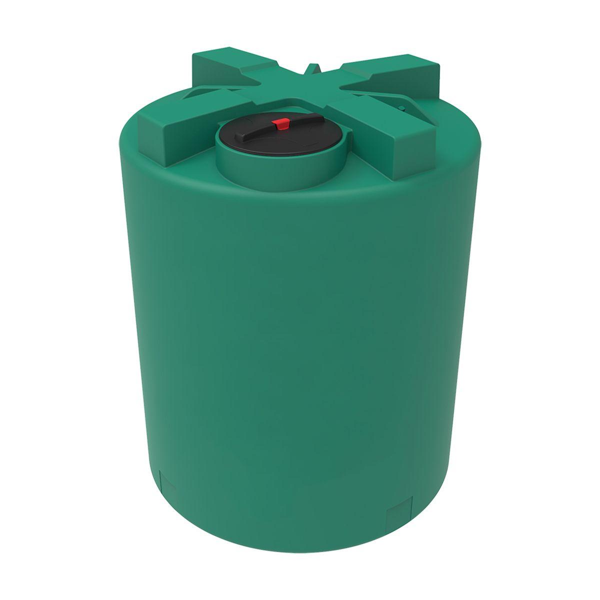 Емкость T 3000 литров зеленая пластиковая