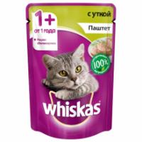 Корм для кошек Whiskas беззерновой с уткой паштет 85 гр