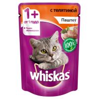Корм для кошек Whiskas беззерновой с телятиной паштет 85 гр