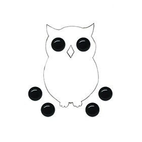 фото Глазки не клеевые пластиковые, цвет черный, диаметр 6 мм (Baby's HS-01)