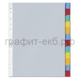 Регистр А4 12стр-карм.цв.метки Durable 6633-19