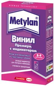 Клей для Виниловых и Структурных Обоев 300гр Metylan Винил Премиум с Индикатором / Метилан