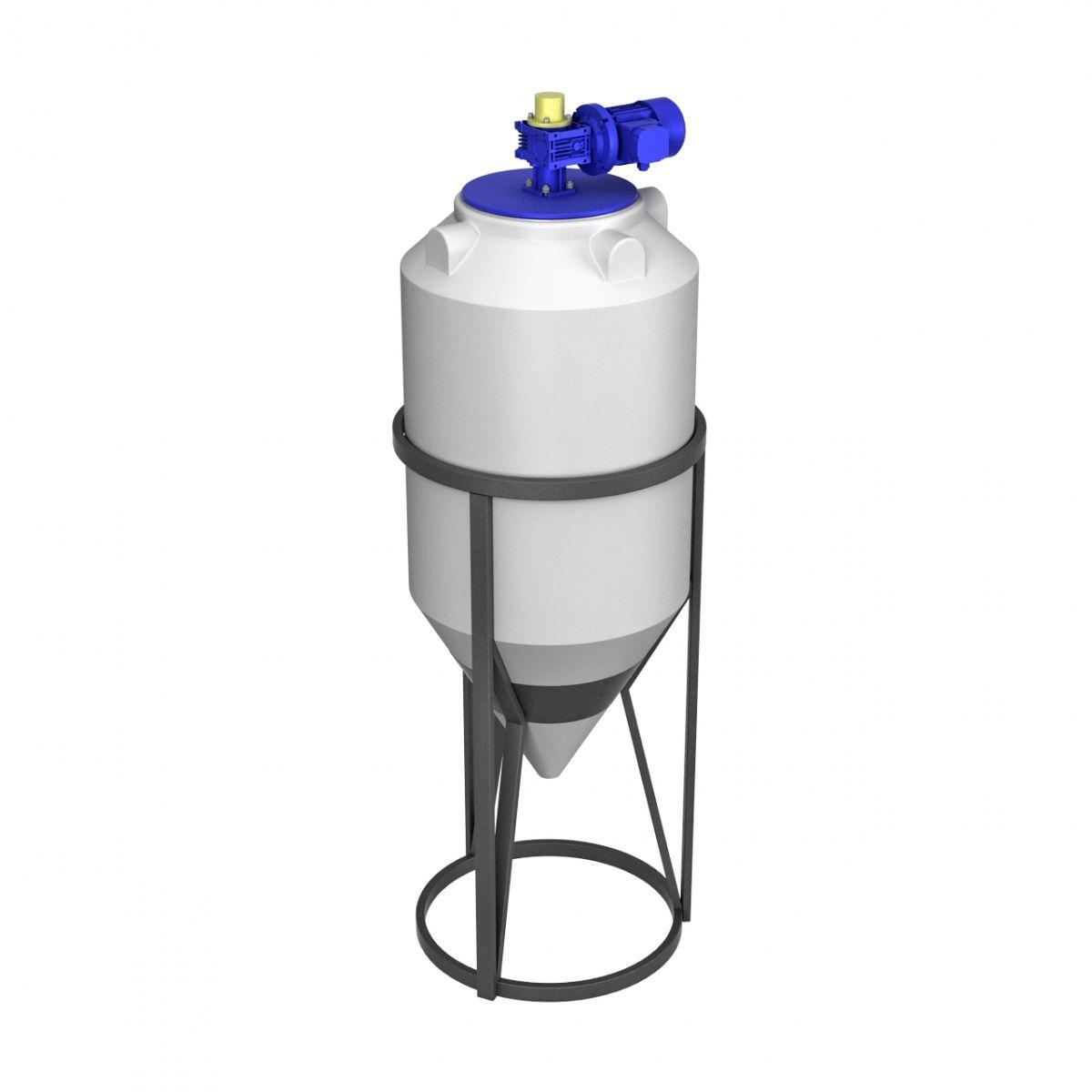 Емкость конусная 240 литров ФМ с пищевой лопастной мешалкой