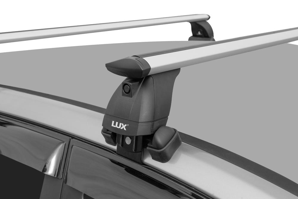 Багажник на крышу Kia Soul (c 2019г, без рейлингов), Lux, крыловидные дуги