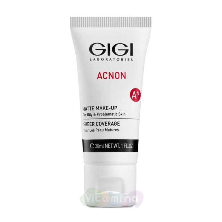 GiGi Крем-тон матирующий для проблемной и жирной кожи Acnon Matte Make-Up, 30 мл