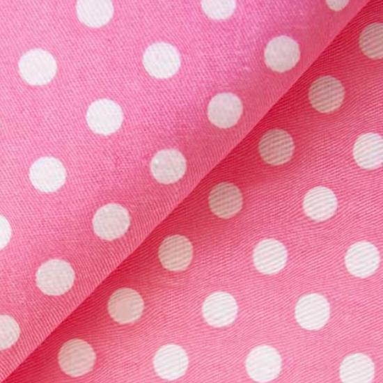 Хлопок Розовый с белым горохом 50х40
