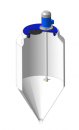 Емкость ФМ 120 в обрешетке с пропеллерной мешалкой