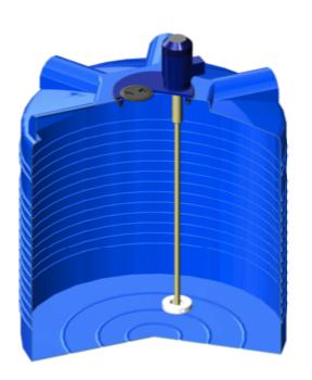 Бак ЭВЛ 1000 с турбинной мешалкой