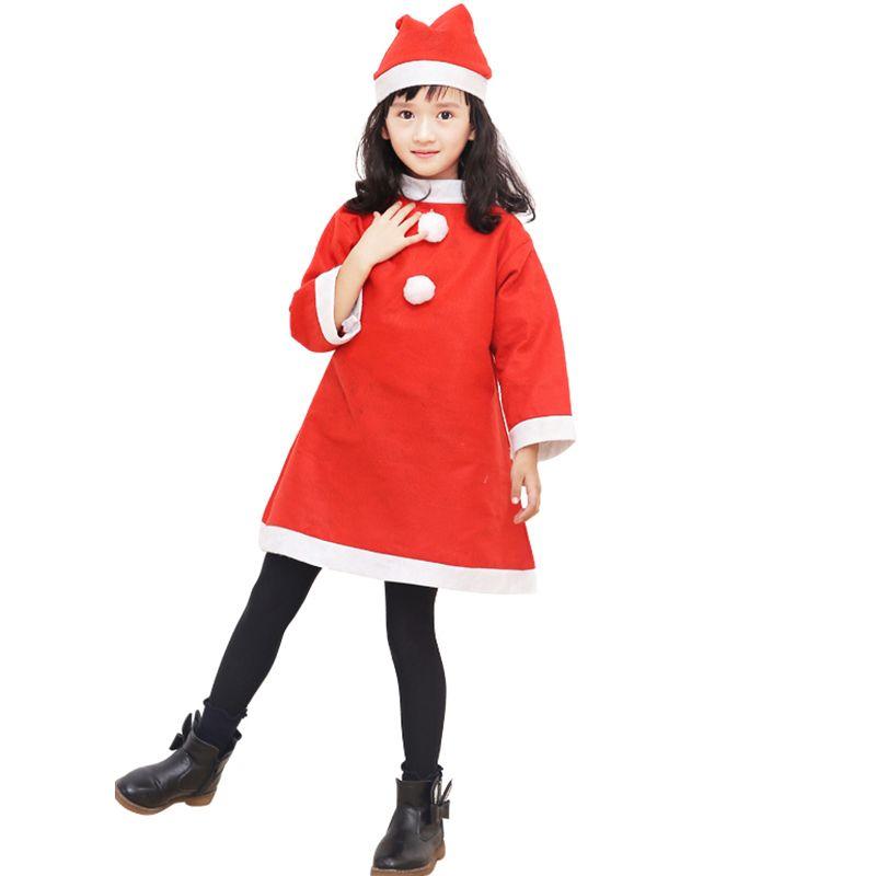 Красный костюм снегурочки для девочки, 6-9 лет