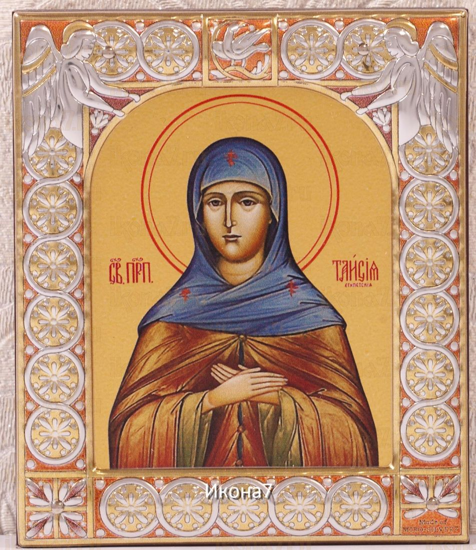 Икона Таисия Египетская (Фиваидская) (9х10,5см)