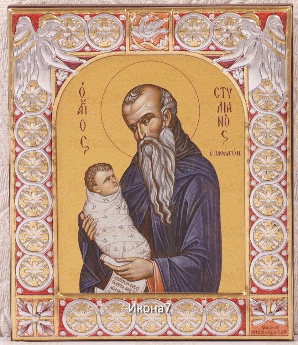 Икона Стилиан Пафлагонский (9х10,5см)