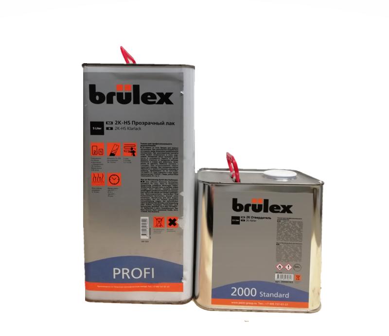 Brulex 2K-HS-Profi Прозрачный лак 5 л + 2К отвердитель