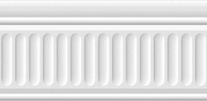 19048/3F   Бордюр Бланше белый структурированный