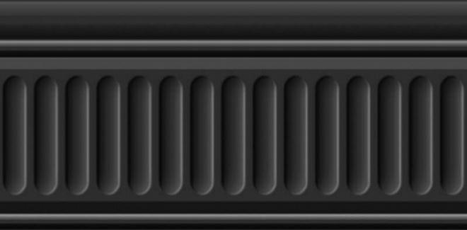 19049/3F   Бордюр Бланше черный структурированный