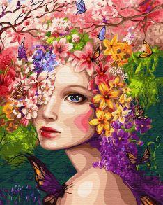 Картина по номерам «Весенняя фея» 40x50 см