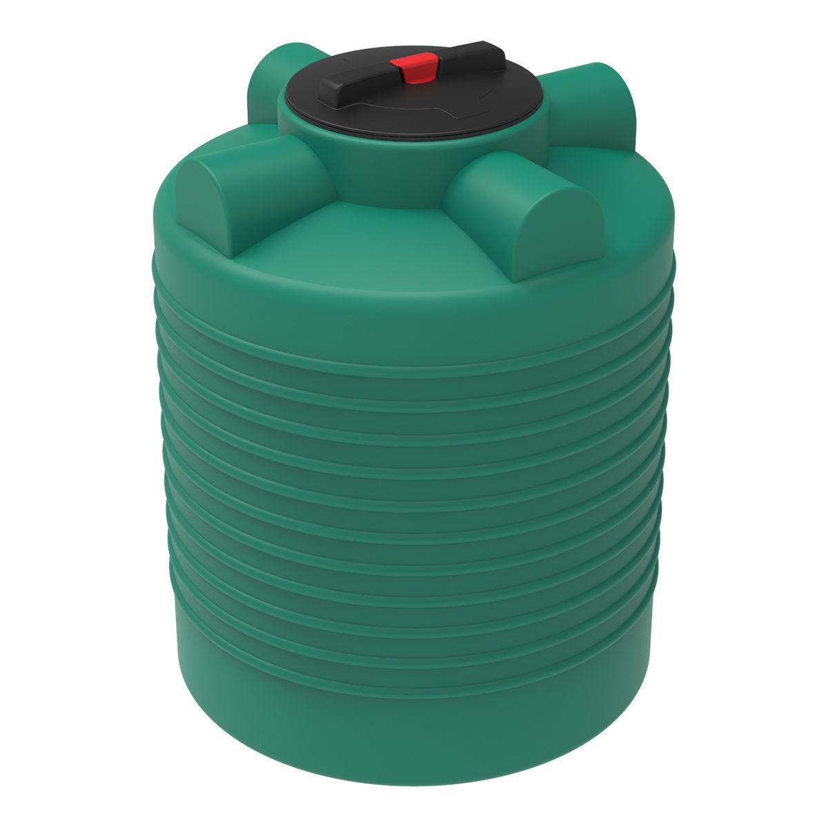 Бак для воды 300 литров ЭВЛ зеленый пластиковый