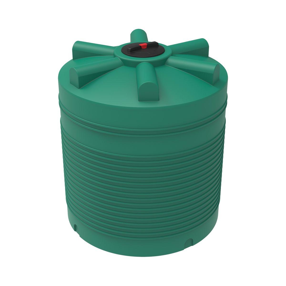 Бак для воды 2000 литров ЭВЛ зеленый пластиковый
