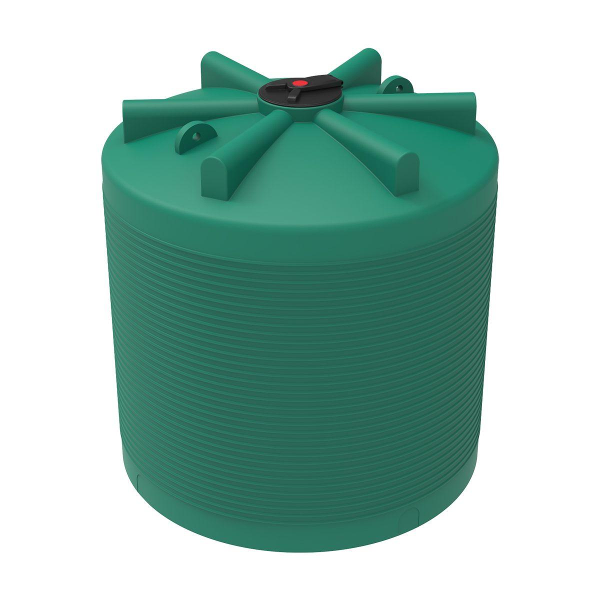 Бак для воды 7500 литров ЭВЛ зеленый пластиковый