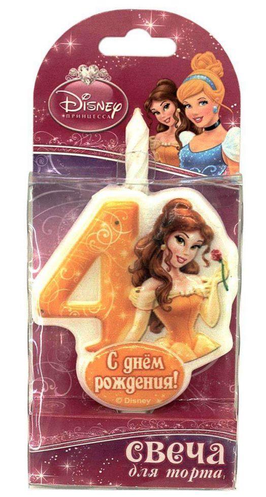 Свеча для торта цифра 4 «Принцесса»