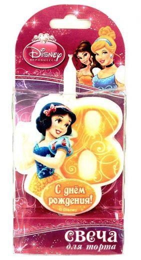 Свеча для торта цифра 8 «Принцесса»