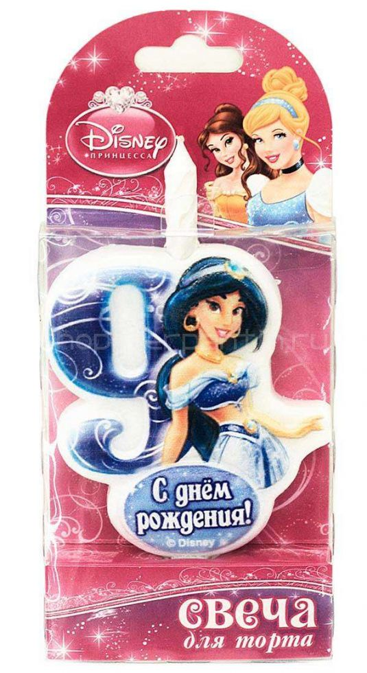 Свеча для торта цифра 9 «Принцесса»