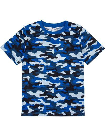 Футболка камуфляжная для мальчиков 3-12 лет Bonito синяя