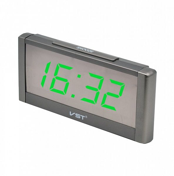 Часы эл. VST731Y-4 зел.цифры (без блока)