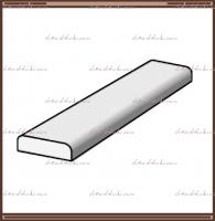 Притворная планка (нащельник) для распашных дверей с покрытием эко-шпон Муар тёмно-серый, Муар светло-серый, Эмалит белый :