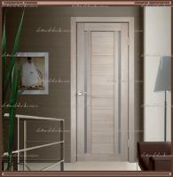 Межкомнатная дверь DUPLEX 2 Капучино, стекло - Мателюкс :