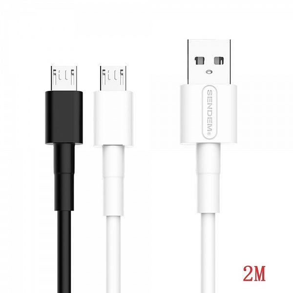 Кабель USB 3А SENDEM M67 (microUSB) 2м