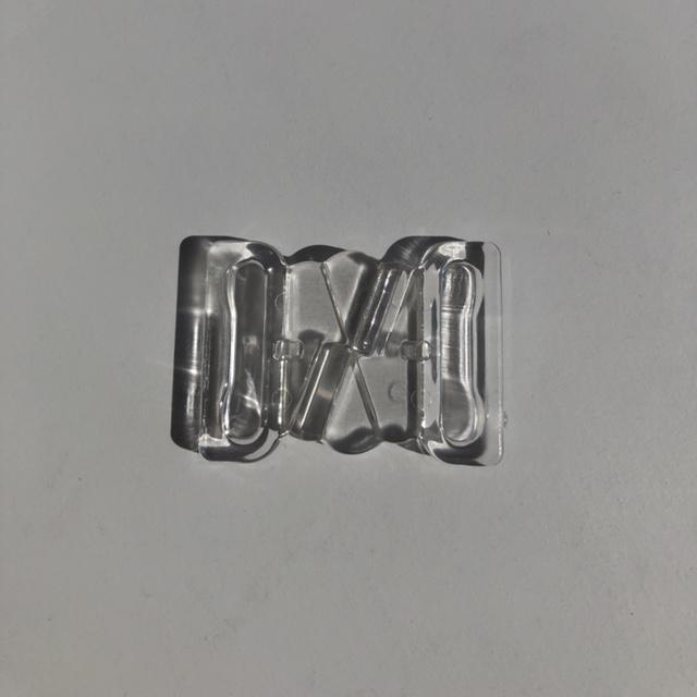 Застежка для купальника, пластик, прозрачный (Abby OS-01)