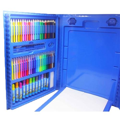 Набор для рисования со складным мольбертом в чемоданчике, 176 предметов. Цвет: голубой.