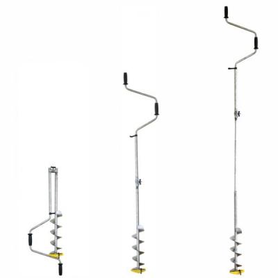 Титановый ледобур Тонар ТЛР-130Д-3НТШ (3 ножа, телеск. шнек)