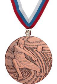 Медаль баскетбол наградная с лентой 3 место 40 мм