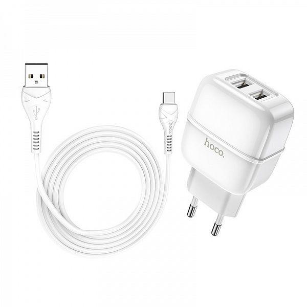 Зарядное устройство с USB HOCO C77A Белый TYPE-C (2400mA,5V)