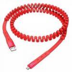 Кабель USB 2.4А HOCO U78 Красный (microUSB) 1.2м