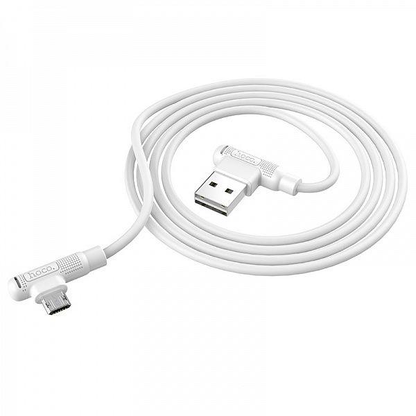 Кабель USB 2.4А HOCO X46 Белый (microUSB) 1м