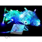 Гирлянда прозрач. кабель (светодиод) 100 ламп цветная LED-8011