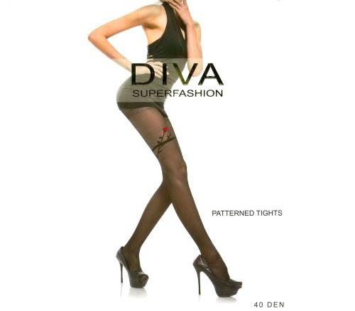 Женские колготки Diva Black 40 Den UK528