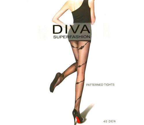 Женские колготки Diva Black 40 Den UK522