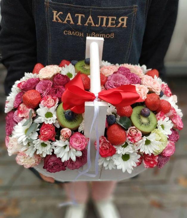 Фруктовый ящик цветов